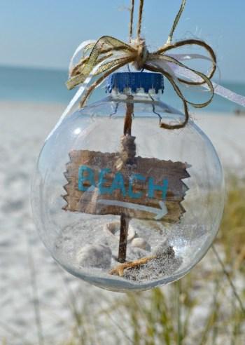Beach themed ornament for christmas