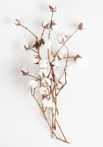 Beautiful cotton plants DIY Coziest Cotton Plant And Balls Crafts As Décor Items This Winter