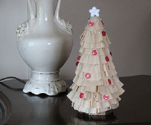 Coffee filter christmas tree DIY Ideas From Recycled Materials To Create Amazing Christmas Decoration