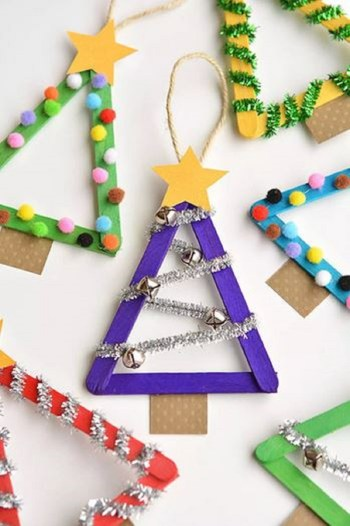 Cool christmas tree from popsicle sticks