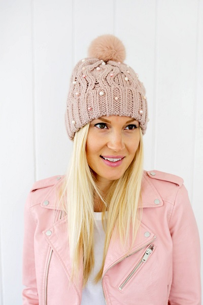 Diy beaded beanie DIY Stylish Clothes And Accessories To Warm You Up This Winter