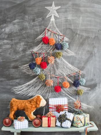 Diy cool chalkboard tree
