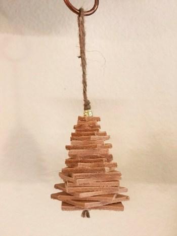 Diy leather christmas tree ornament