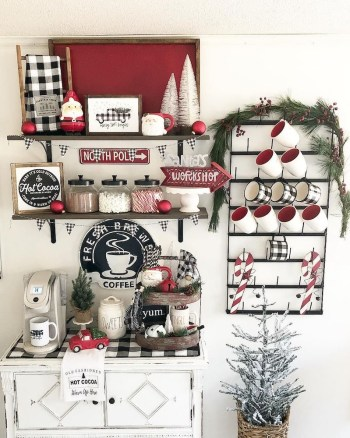 Festive hot cocoa bar
