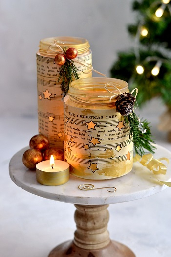 Glowing stars christmas luminaries DIY Christmas Luminaries Ideas To Beautify Your Adorable Christmas Moments
