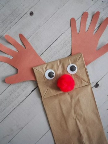Make a paper bag reindeer