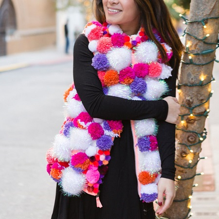 Pom pom vest DIY Stylish Clothes And Accessories To Warm You Up This Winter