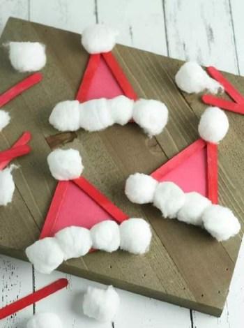 Popsicle santa hat