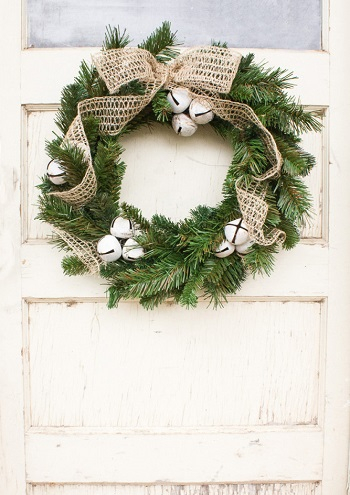 Rustic bell christmas wreath DIY Jingle Bell Christmas Decorations And Crafts To Convey Your Christmas Spirit