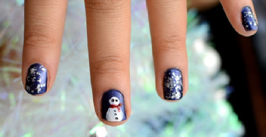 Snowman nail art DIY Marvellous Christmas Nail Art Ideas To Let Your Nails Shining All Day