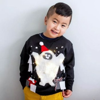 Snowman sweater for kids