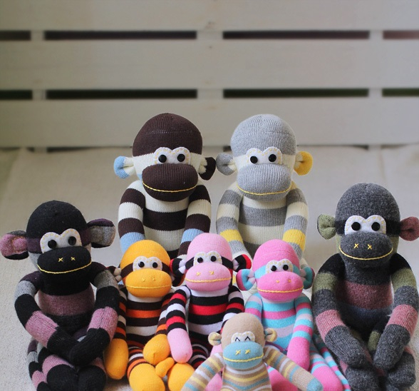 Sock monkeys DIY Easy To Copy Christmas Gift Ideas For Your Kids That Also Affordable