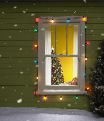 Window with lighted frame