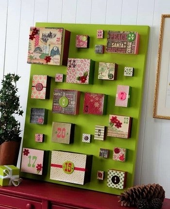 Wrap calendars DIY Spellbinding Advent Calendars That Will Ge You So Excited For Christmas
