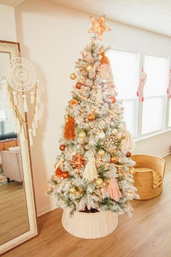 Lovely flocked christmas tree