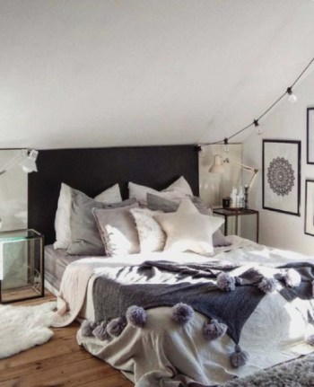 Classic bedroom for winter