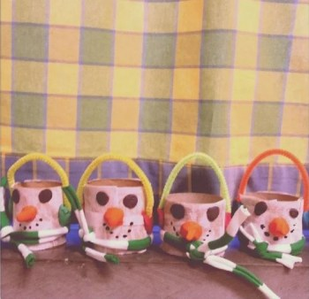 Cute snowman baskets