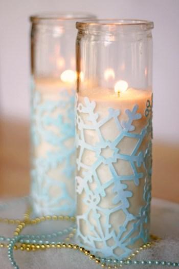 Diy cute winter votives