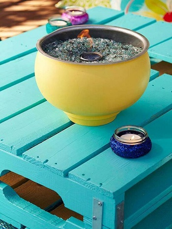Diy flamming fire pit DIY Simple And Warm DIY Mini Tabletop Fire Pit That Perfect For Small Spaces