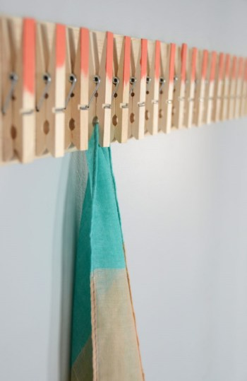 Diy cool clothespin scarf hanger