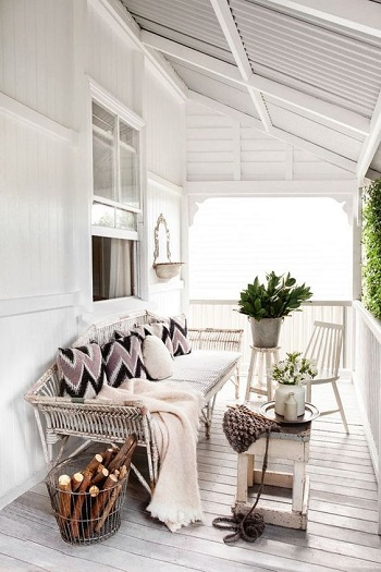 Shabby chic terrace Enjoyable Terrace Décor Ideas To Create This Winter To Stay Comfortable