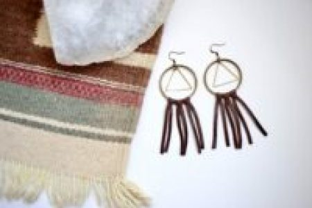 Diy boho leather earrings
