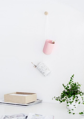 Diy hanging desk organiser Blazing DIY Projects To Renew Your Home Office Look