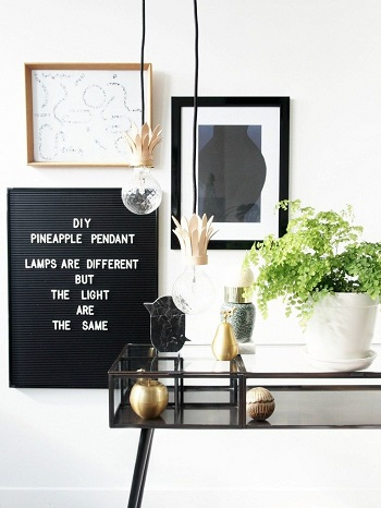 Diy pineapple pendant light Stylish Comfortable DIY Project For Your Entertaining Living Room