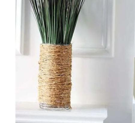 Diy twine-wrapped vase