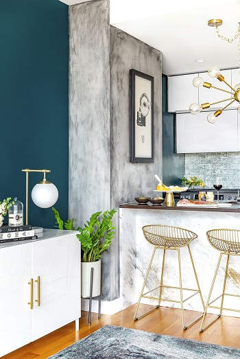Faux concrete wall Beginner-Appropriate DIY Project To Refresh Your Home Decoration