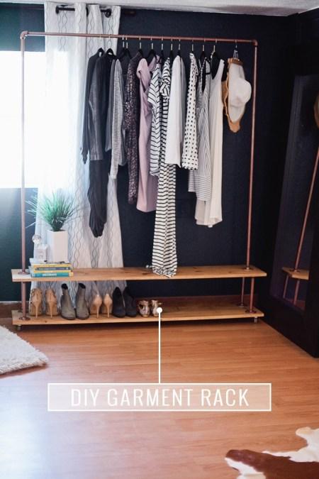Rolling diy garment rack
