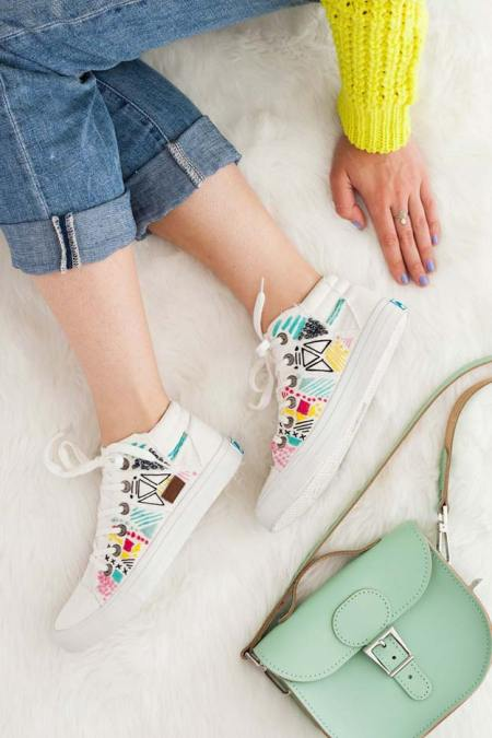 White canvas sneakers for spring
