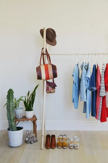 A-frame clothes rack Garment Rack Ideas To Keep Entire Wardrobe Organized