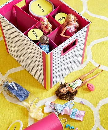 Accessory division DIY Storage Solution To Keep Your Kids Room Organized