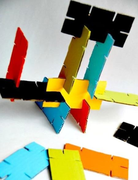 Amazing cardboard stackers