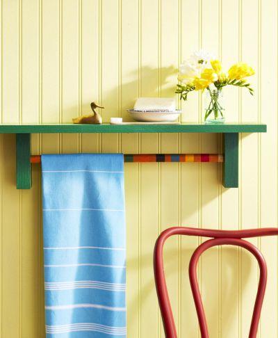 Croquet mallet towel rack