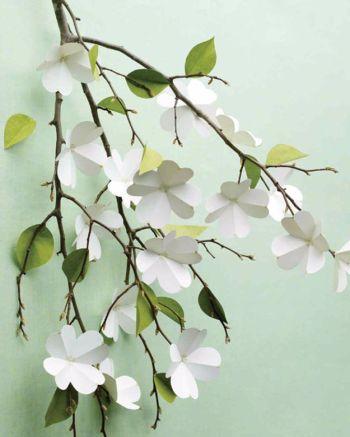 Diy easy paper dogwood flowers