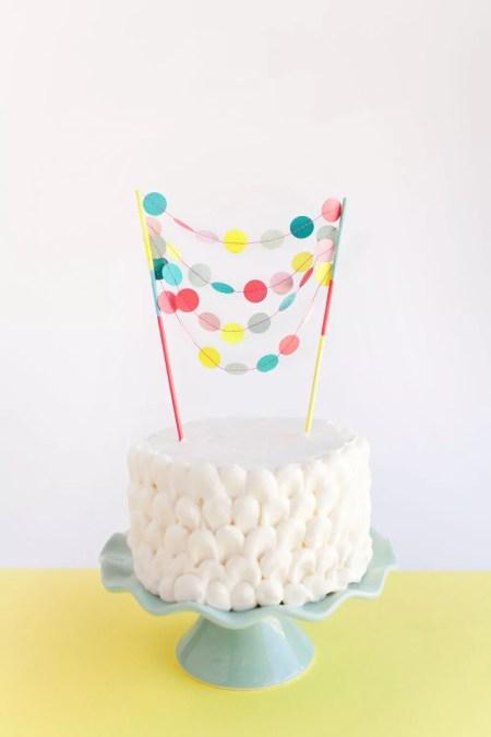 Festive cake decor