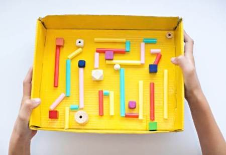 Marble maze from cardboard