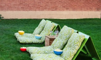 Outdoor seating to watch movies