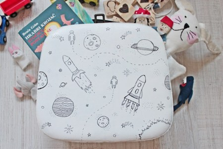 Universe drawing suitcase