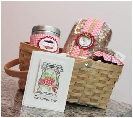 Breakfast-themed gift basket
