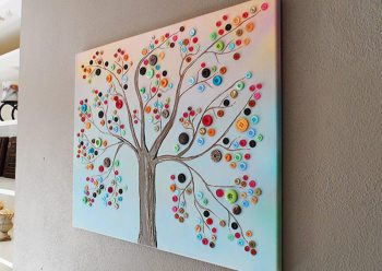 Buttons for wall art
