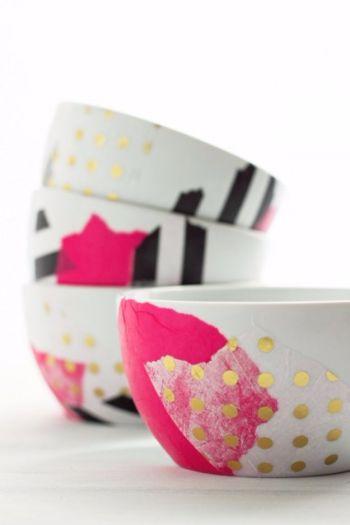 Diy amazing mod podge bowls