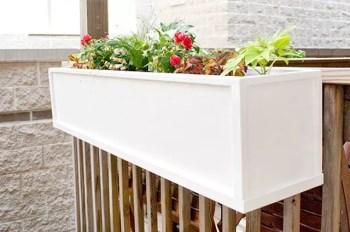 Diy deck flower box