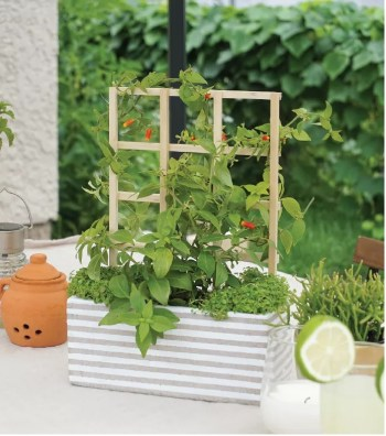 Diy mini planter trellis