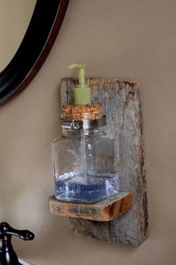 Diy rustic soap dispenser