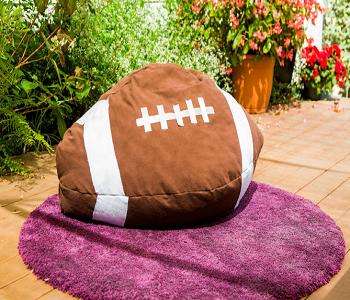 Football bean bag DIY Bean Bag Chairs Ideas To Lay Down And Enjoy