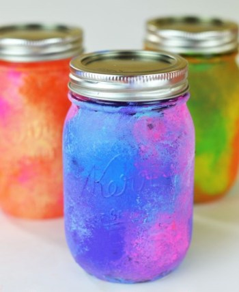 Galaxy art mason jars