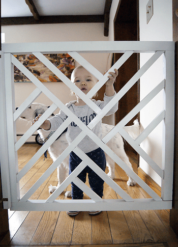 Geometric baby gate DIY Excellent Ideas To Have Functional Baby Gates